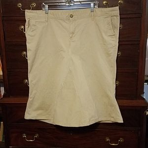 Skirt tan from old navy pants